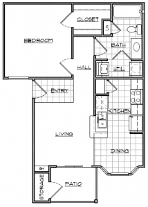1 Bed / 1 Bath / 617 sq ft / Availability: Please Call / Deposit: $150 / Rent: Please Call