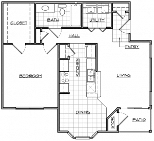 1 Bed / 1 Bath / 757 sq ft / Availability: Please Call / Deposit: $150 / Rent: Please Call