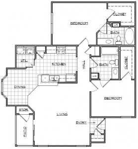 2 Bed / 2 Bath / 1,131 sq ft / Availability: Please Call / Deposit: $250 / Rent: Please Call